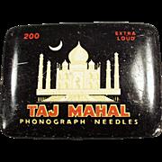 Vintage Phonograph Needle Tin - Taj Mahal - Nice Graphics