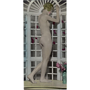 Vintage Hand Tinted Photograph - Posed Nude Woman - circa 1920's