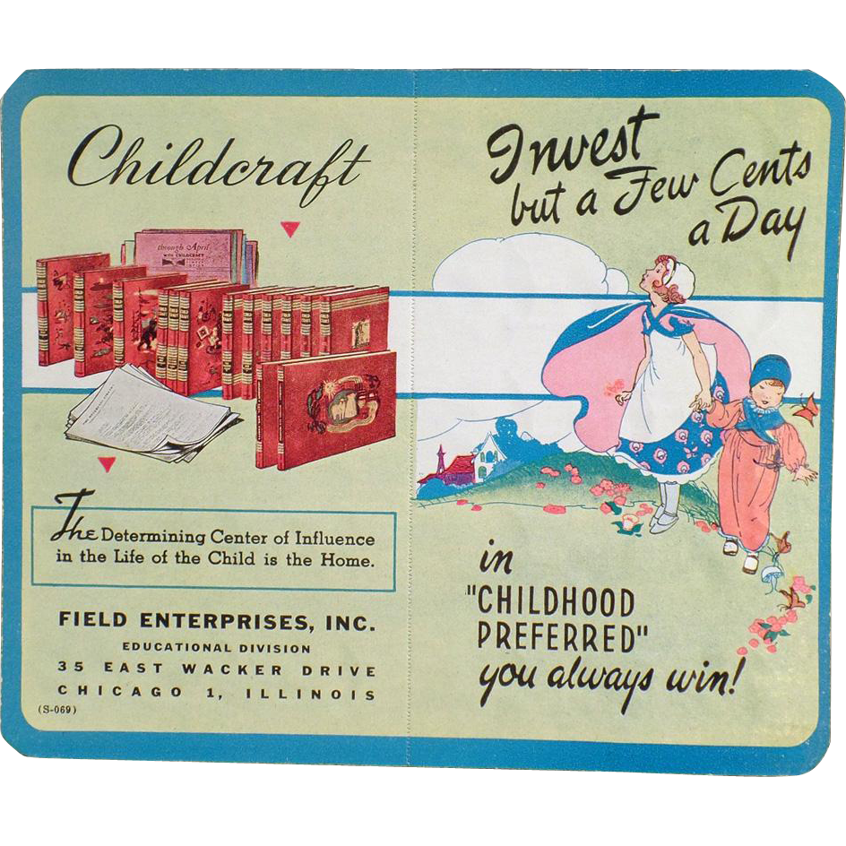 Vintage Dime Saver with Childcraft Books Advertising - Cardboard
