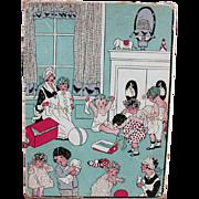 Vintage Children's Hosiery Box - Fun Nursery Room Graphics