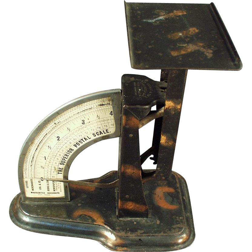Vintage Postal Scale with Tiger Stripe Finish - 1904 - Triner Scale Company