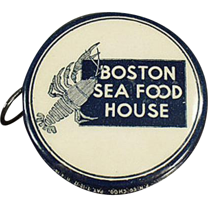 Vintage Advertising Tape Measure - Boston Sea Food House - Celluloid