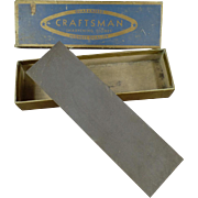 "Vintage Craftsman #6440 Sharpening Stone with Original Box - 7"" Stone"
