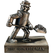 Vintage Iron Fireman Advertising Paperweight