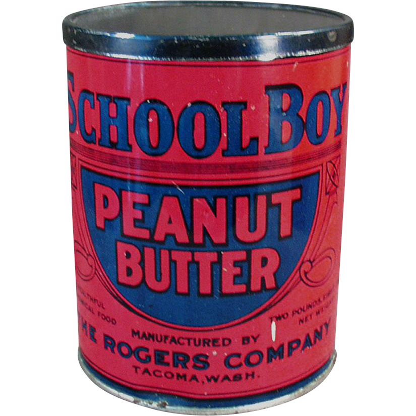 Vintage Peanut Butter Tin - School Boy - Seattle / Tacoma
