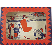 "Vintage Dexterity Game - Goofy ""Wash Day"" with Funny Gnomes"