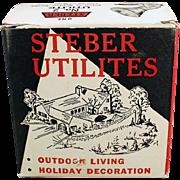 Vintage Indoor/Outdoor Light Fixture with Original Box - Steber Utilite