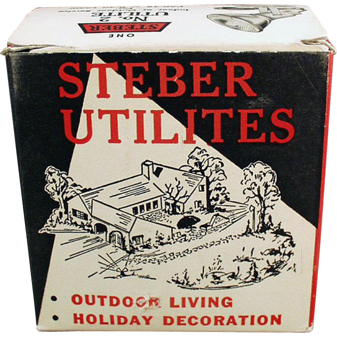 Vintage Indoor/Outdoor Light Fixture with Original Box - Steber Utilite