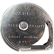 Vintage Steel Tape Measure - Wards Direct Reading