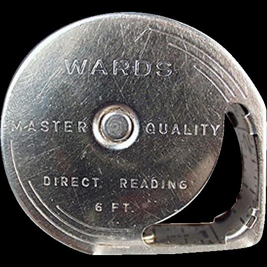 Vintage Steel Tape Measure - Wards Direct Reading