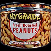 Vintage Keywind Tin - Hy-Grade Peanuts