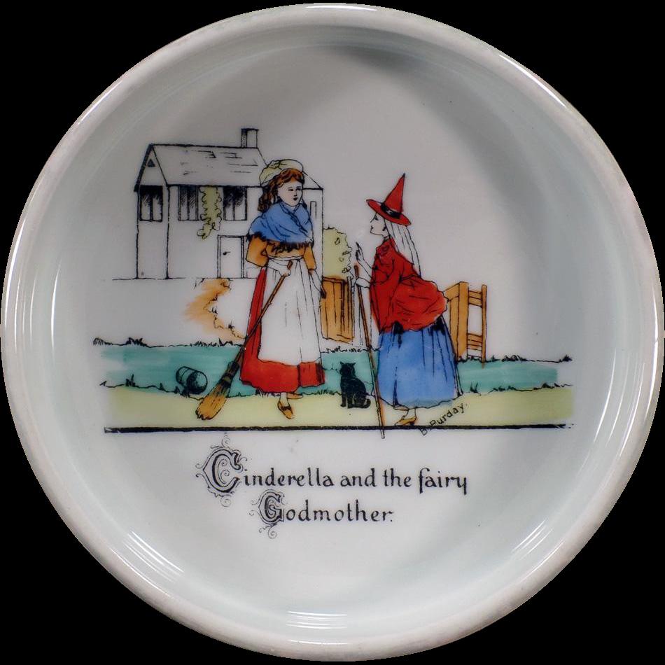Vintage Baby Plate – Cinderella - Czechoslovakia