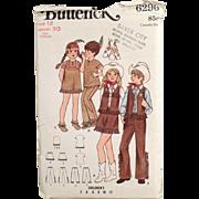Children's Vintage Costumes Pattern - Cowboys & Indians - Butterick #6296