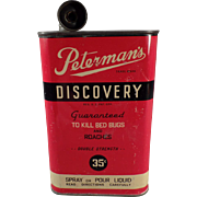 Vintage Peterman's Discovery Poison Tin for Bed Bugs and Roaches