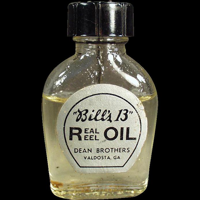Vintage Oil Bottle -  Bill's 13 Real Reel Oil