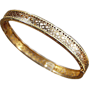 Vintage Gold Filled Filigree Bracelet - Small, Child Size