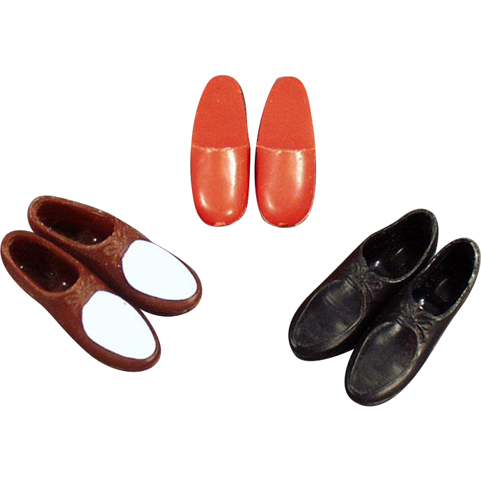 Vintage Ken Doll Shoes - Three Different Pairs