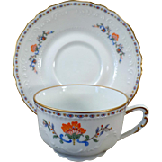 Vintage Royal Limoges France - Persan Rouge Cup and Saucer Set - 4 Available