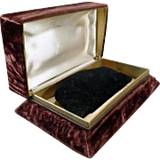 Vintage Jewelry Presentation Box with Many Possibilities – Brown Crushed Velvet