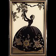 Vintage Framed Silhouette – Blossom Time by Smith Frederick