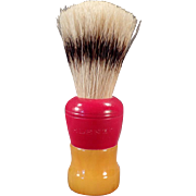 Vintage Klenzo Shaving Brush with Badger Bristles and Catalin Handle