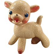 Vintage Rubber Squeak Toy Little Lamb Figure