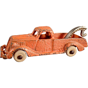 Vintage C.I. Hubley Tow Truck Wrecker with Original Paint