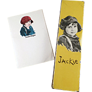 Vintage Jackie Coogan Pencil Box and Note Paper