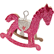 Vintage Christmas Ornament – Rocking Horse – N.O.S.