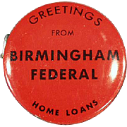 Vintage Advertising Tape - Birmingham Federal