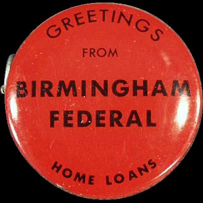 Vintage Advertising Tape - Birmingham Federal
