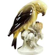 Vintage Porcelain Parakeet Figurine - Hertwig of Germany