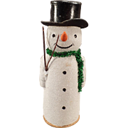 Vintage German Snowman Candy Container ca. 1930's