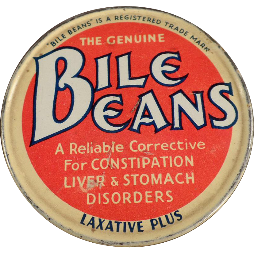 Vintage Medicine Tin - Biles Beans Laxative Twists