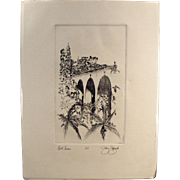 Artist Signed, Numbered Print - San Diego's Balboa Park - Bell Tower & Cabrillo Bridge