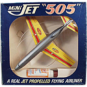 Vintage Toy Airplane - Mini Jet with Original Box