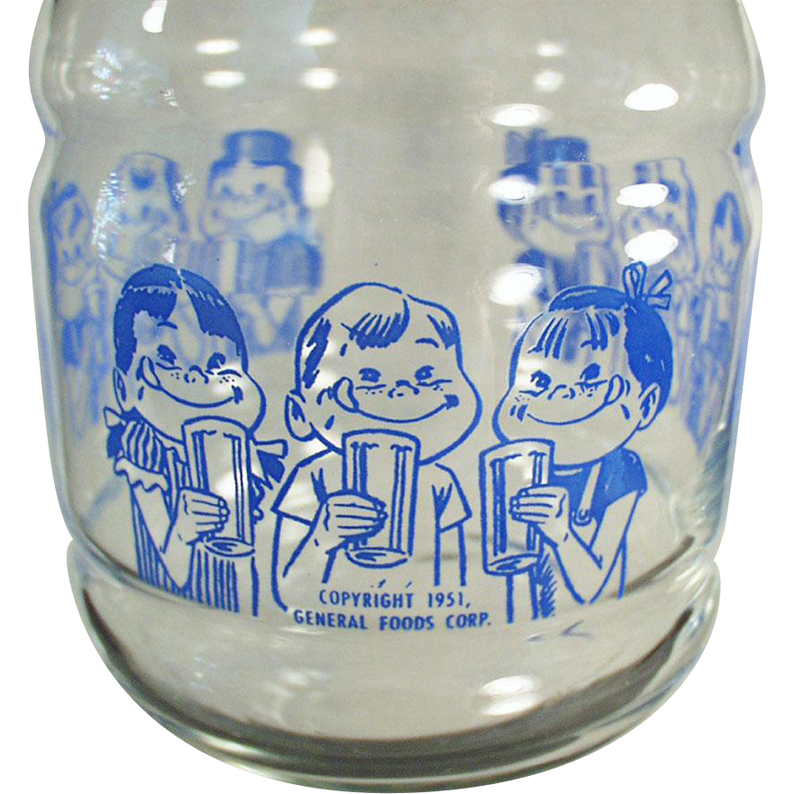 Vintage Glass Kool-Aid Carafe with Happy Kids - Great for Summer Drinks