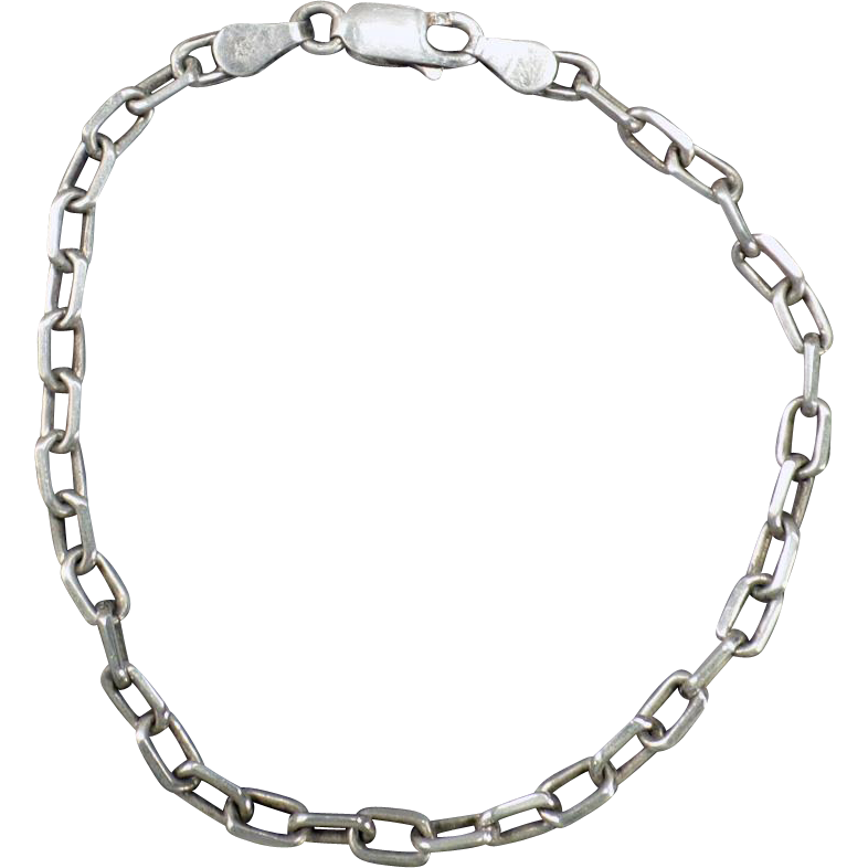 Vintage Sterling Silver Wrist Chain for a Charm Bracelet – 925 Italy
