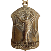 Vintage NRA Pin Medal - National Rifle Association - 1965 - Medal with Original Ribbon