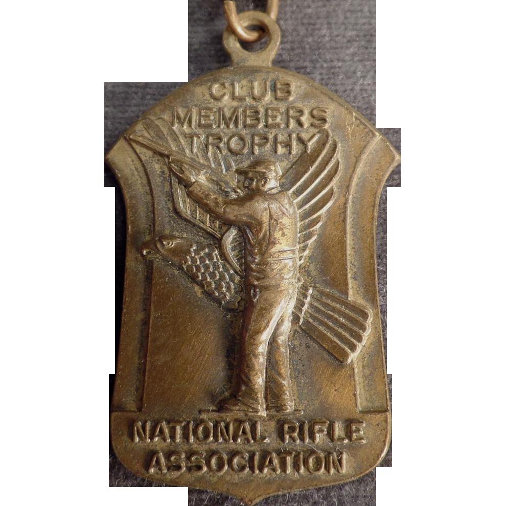 Vintage NRA Pin Medal - National Rifle Association - 1965 - Medal with Original Ribbon
