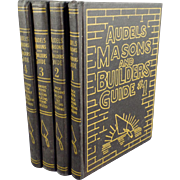 Vintage Audels Masons & Builders Guide - 4 Book Set - 1950's