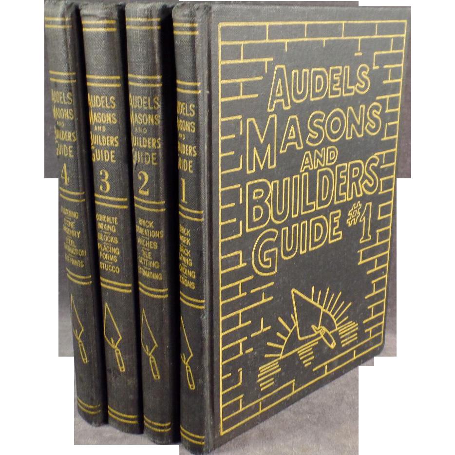 Vintage Audels Masons & Builders Guide - 4 Book Set - 1950's