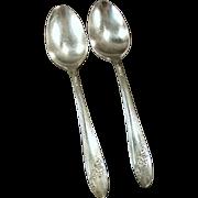 Vintage Queen Bess Oneida Silver Plate - 2 Teaspoons