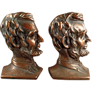 Vintage Cast Iron Bookends - Abraham Lincoln