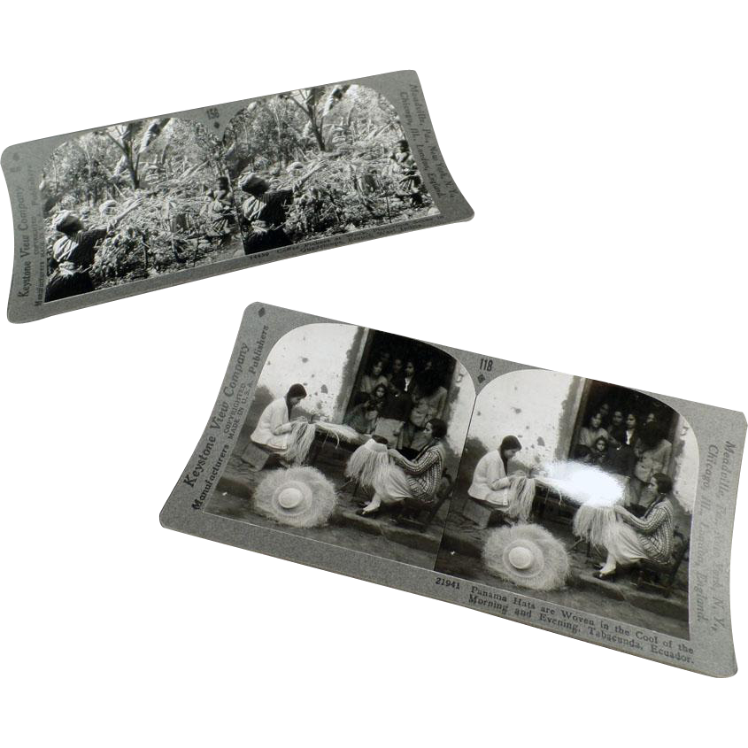 Vintage Stereoscopic Cards - Life in Other Countries - 2 Cards