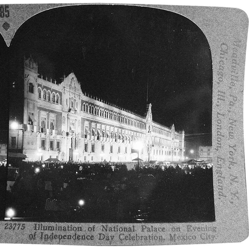Vintage Stereoscopic Card - National Palace, Mexico City #85