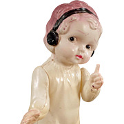 Vintage Celluloid Doll - Sweet Little Girl with Cute Pose