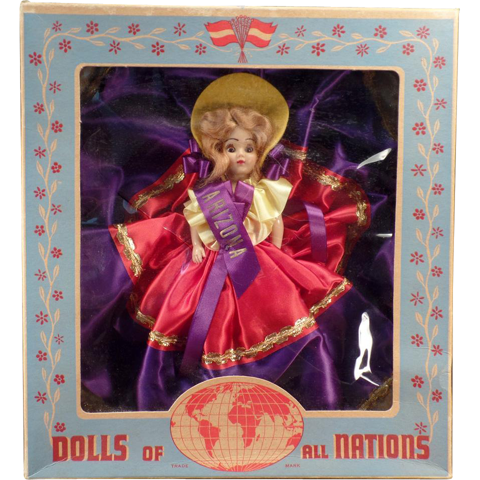Vintage Duchess Doll with Original Box – Miss Arizona - Dolls of All Nations