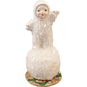 Vintage Snow Baby Figurine on Snowball – Made in Germany