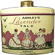 Vintage Powder Tin -  Ashley's Lavender Talc